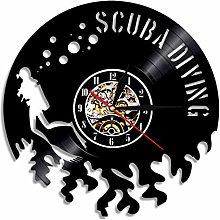 MASERTT Wall Clock Gift For Scuba Divers Diving