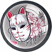 Mask Flowers Crystal Drawer Handles Furniture