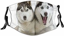 Mask For Face Animal Vivid Two Snuggling Siberian