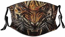 Mask For Mouth Animal Tiger And Glass Shards Art
