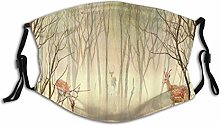 Mask Pattern Autumn Forest Tree Rural Landscape