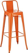 Mason Bar Stool Borough Wharf Colour: Orange