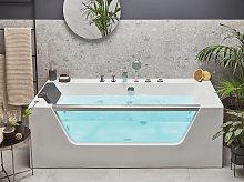 Massage Points Bath White Silver Sanitary Acrylic