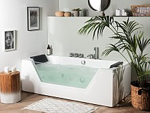 Massage Points Bath White Silver with LED Sanitary