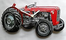 Massey Ferguson Tractor Wall Clock - Made in the