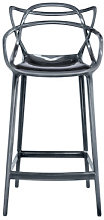 Masters Bar chair - H 65 cm - Metallized by