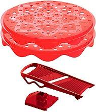 Mastrad Chips Maker/Food Slicer, Set of 2, Red