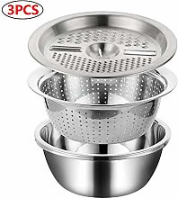 matago Colander With Bowl And Grater Stainless