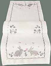 matches21 Table Runner Table Topper Easter Bunny