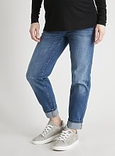 MATERNITY Mid Blue Girlfriend Jeans - 16