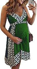 Robe portefeuille de maternité pour femmes au genou avec