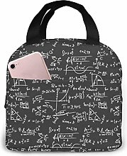 Math Mapping Abstract Formulas Lunch Bag Reusable
