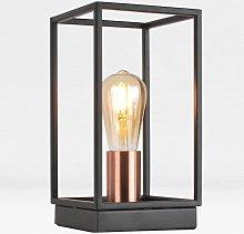 Matt Black With Brushed Copper Detail Table Light