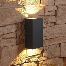 Matte Black Square Cube LED Indoor Outdoor Wall
