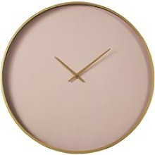 Matte gold and pink clock D80cm