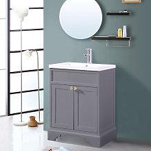 Matte Grey Floor Standing Bathroom Furniture