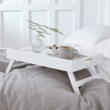 Matte White Breakfast in Bed Tray, White, One Size