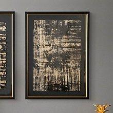 Mattis Fine Print Framed Wall Art In Black Satin