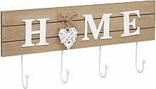 Maturi Woven Heart Shabby Chic Home Coat Hook,