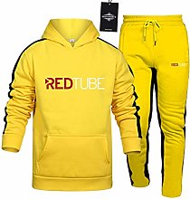 MAUXIAO Mens Tracksuit Set Jogging Suit RED_Tube.S