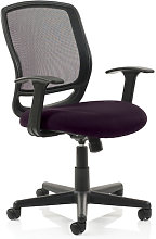 Mave Task Black Back Office Chair With Tansy