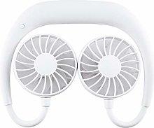 Maxpex Portable Neckband Hanging Neck Fan Dual