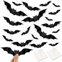 Maxure Bats Wall Decorations, 160 Pcs 3D Bat