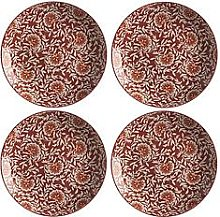 Maxwell & Williams Boho Damask Red Dinner Plates