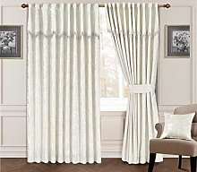 Maya Fully Lined Jacquard Curtain With Attached