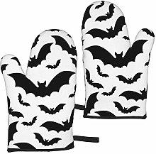 MayBlosom Bat Animal Bat Oven Mitts 1 Pair of