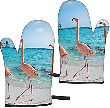 Mayblosom Beach Flamingos Oven Mitts,Glove Fashion