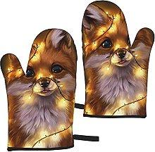 Mayblosom Cute Fox Oven Mitts,Glove Fashion