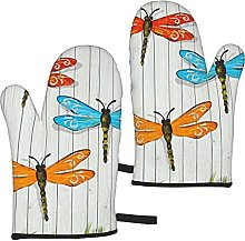 Mayblosom Dragonfly Fence Oven Mitts,Glove Fashion