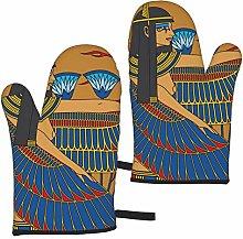 Mayblosom Egyptian Goddess Oven Mitts,Glove