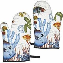 Mayblosom Fish Oven Mitts,Glove Fashion Microwave