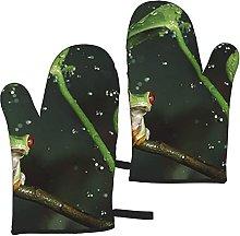 Mayblosom Frog and Rain Oven Mitts,Glove Fashion