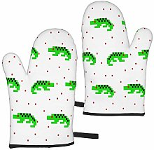 MayBlosom Green Crocodile Cartoon Pixel Art Oven