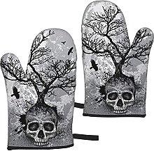 Mayblosom Halloween Skull Oven Mitts,Glove Fashion