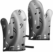 MayBlosom Music Oven Mitts Set of 2 Heat Resistant