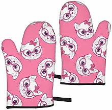 MayBlosom Oven Gloves Double Heat Resistant Cute