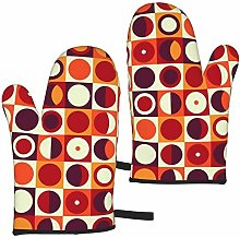 MayBlosom Oven Mitts 70s Retro 60s Style and Color