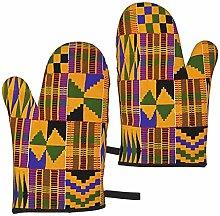 MayBlosom Oven Mitts Ghana Kente Cloth Heat