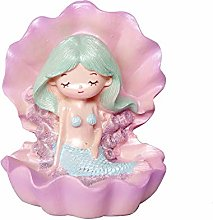 Maygone Purple Mermaid with Shell Cake Toppers