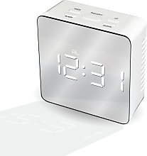 Mayhem UK White Ice LED Mirrored Alarm Clock