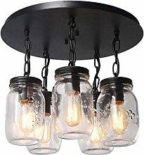 MAZ E27 Glass Pendant Lamp American Style Rural