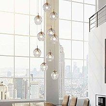 MAZ Lighting 10 Glass Balls Chandelier for Villa
