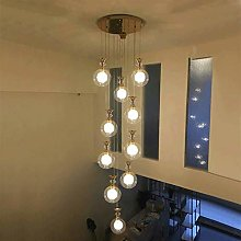 MAZ Lighting 10 Glass Balls Staircase Chandelier