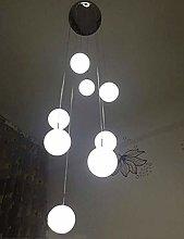MAZ Lighting Multi Glass Ball Spiral Chandelier