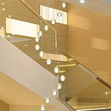 MAZ Lighting Spiral Rotating Staircase Chandelier