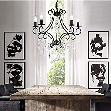 MAZ Living Room Chandelier Lamp Continental Iron